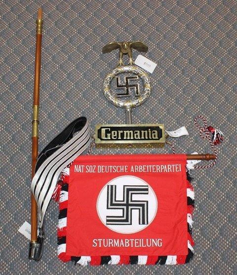 """German NSDAP """"Deutschland Erwache"""" Parade banner -"""