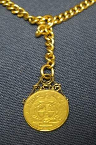 Watch Chain with Fob.