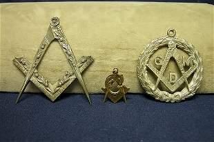 Three Pieces Masonic Jewelry.
