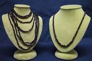 Two Garnet Necklaces.