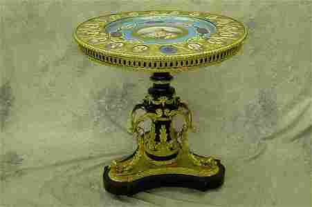 1066: Louis XVI Style Plaque Table.