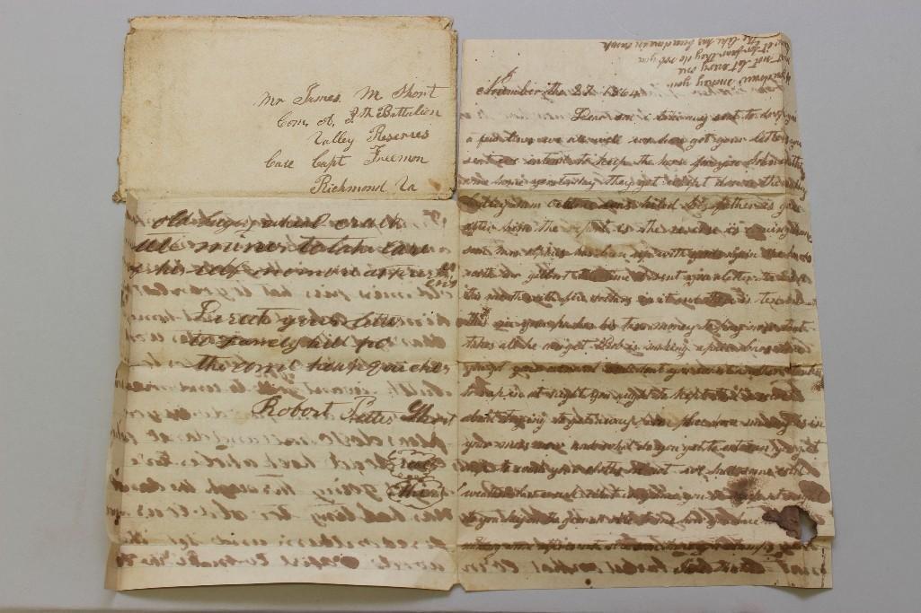 Civil War Confederate Civilian Letter w/Cover