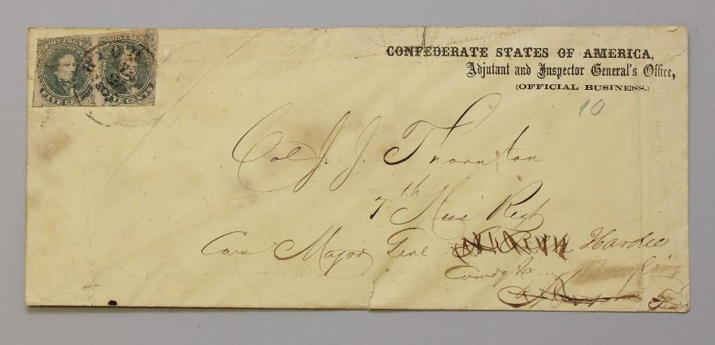 Civil War Used Confederate Envelope-Military