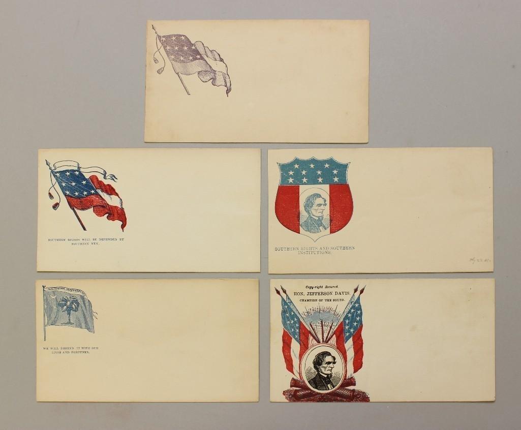 Unused Confederate Civil War Patriotic Covers
