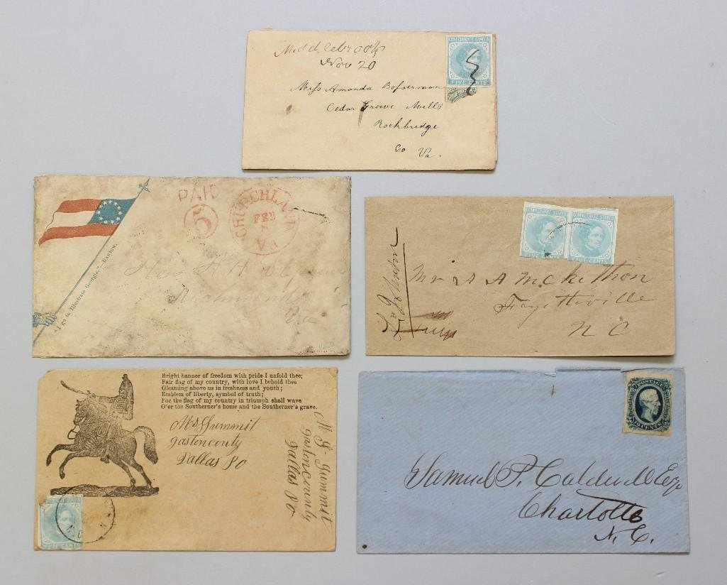 Grouping of Used Confederate Postal Covers