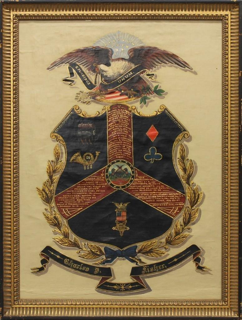 Civil War Service Escutcheon of Charles D. Fisher