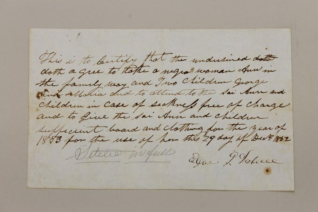 African American History 19th Century Document
