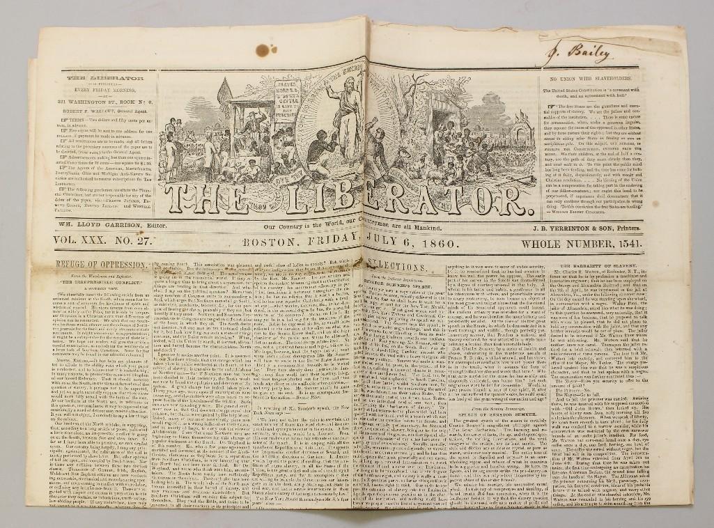 Abolitionist Newspaper-1860