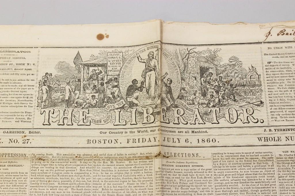 Abolitionist Newspaper-1860 - 2