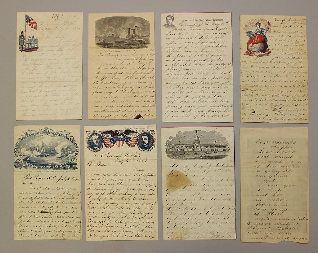 Grouping of Union Civil War Soldiers Letters