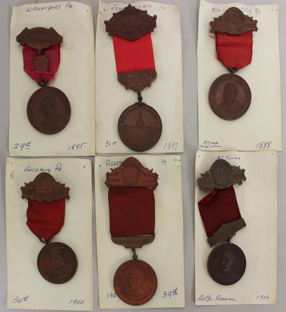 Grouping of Pennsylvania GAR Encampment Medals