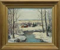 "Walter E. Baum (1884-1956, Pennsylvania) ""Winter"""