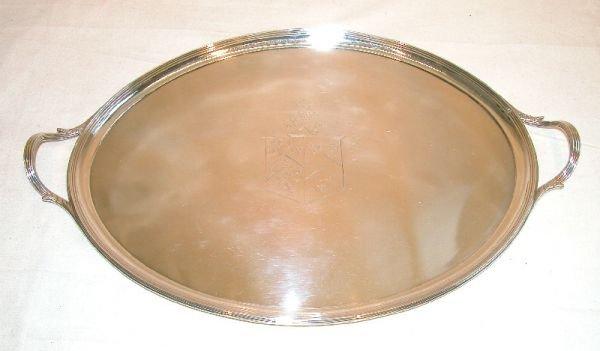 1011: Georgian Sterling Silver Tray.