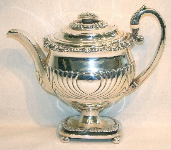 1015: Georgian Sterling Silver Teapot.
