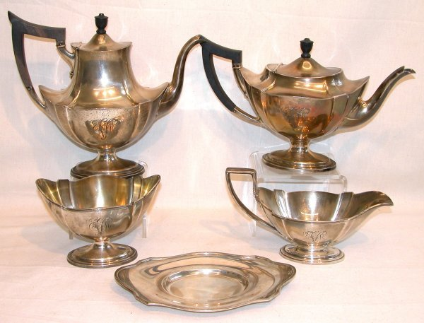 1021: Sterling Silver Tea and Coffee Service – Gorham.