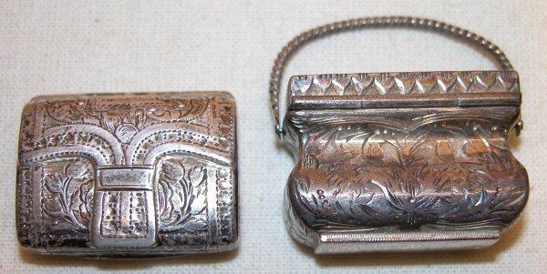 1031: Two Silver Vinaigrettes.