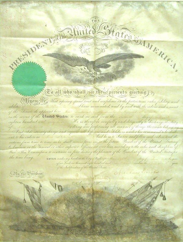 505: Abraham Lincoln Autograph.