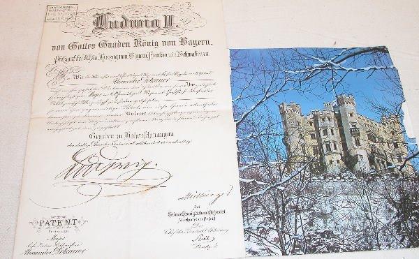 508: Ludwig II of Bavaria Autograph.