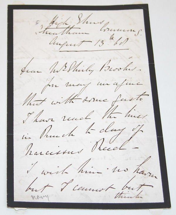 509: Cowper Phipps Coles Autograph.