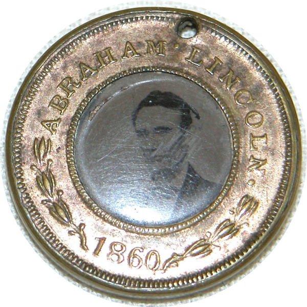 511: Abraham Lincoln Ferrotype Token - 1860.
