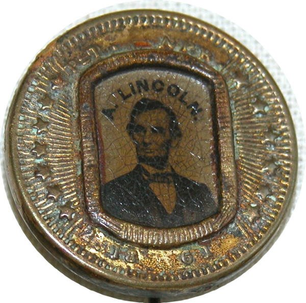 512: Abraham Lincoln Ferrotype Pin.