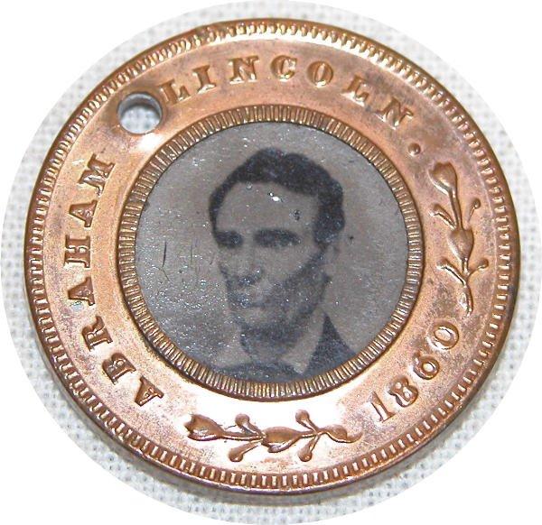 514: Abraham Lincoln Ferrotype Token - 1860.