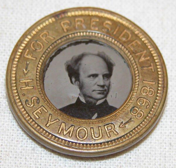 524: Horatio Seymour Ferrotype Token - 1868.