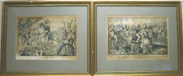527: Pair of Currier Mexican War Prints.