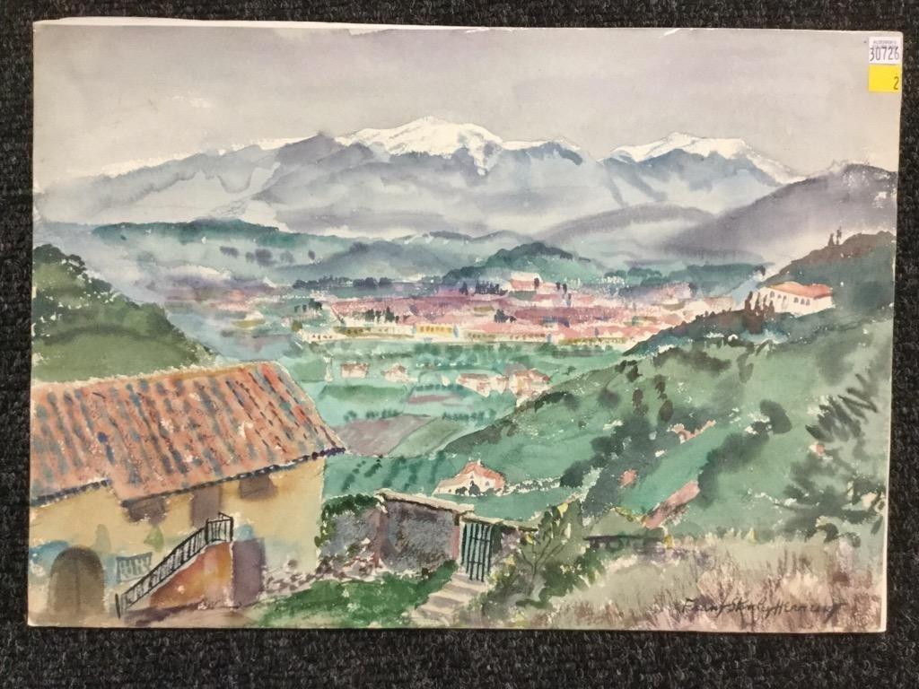 Frank Stanley Herring. Mountainside landscape.