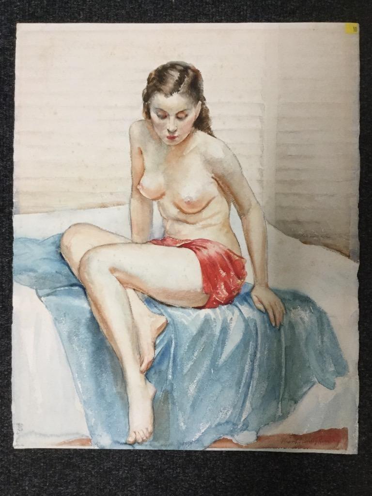 Frank Stanley Herring. Seated Nude.