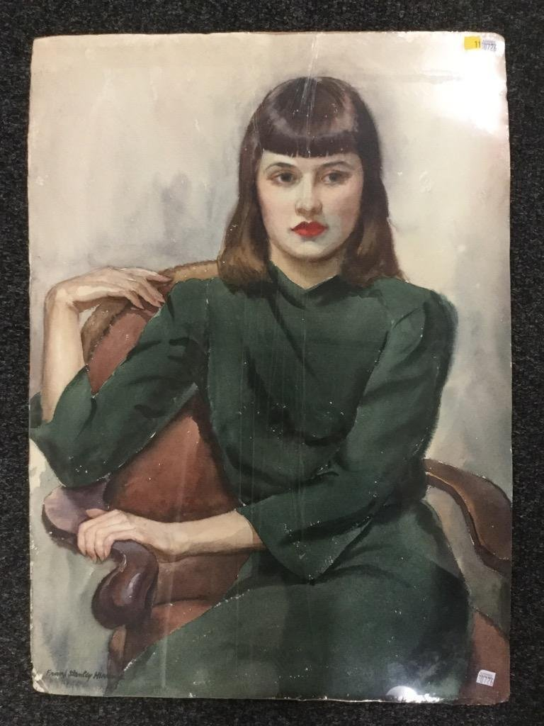 Frank Stanley Herring. Woman in Green.