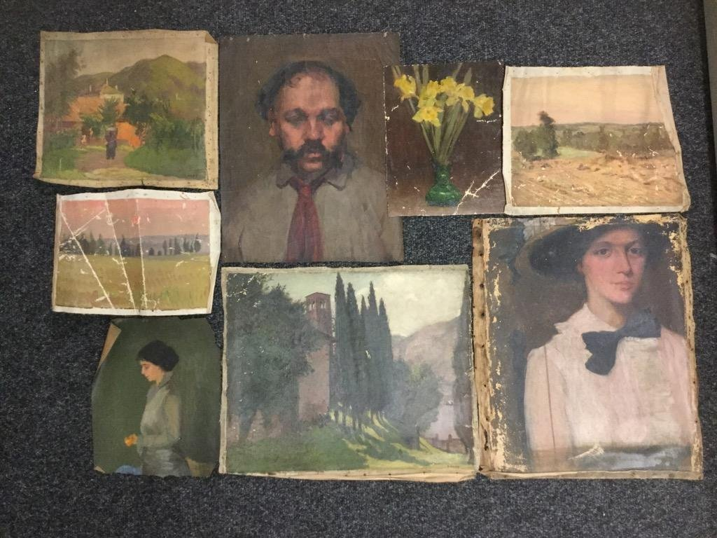 Edith M Mann.  Lot of 8 pieces.