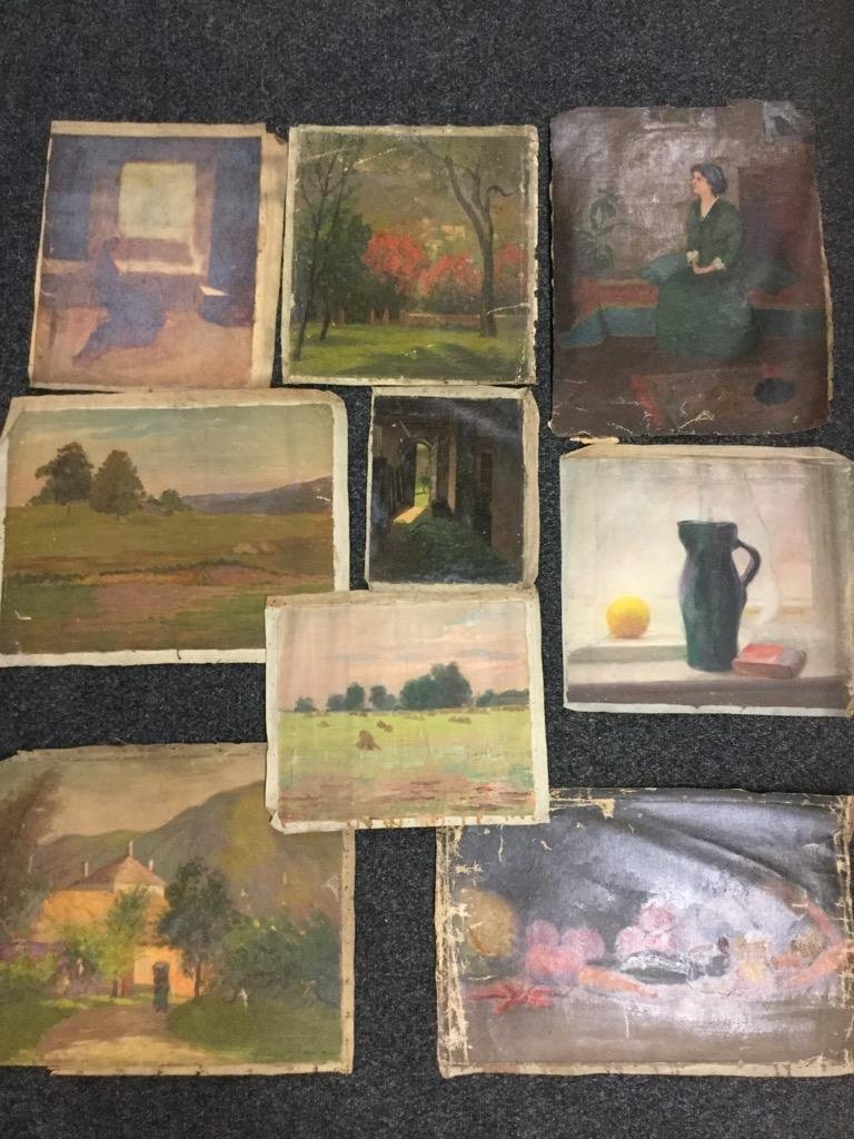 Edith M Mann. Lot of 9 pieces.
