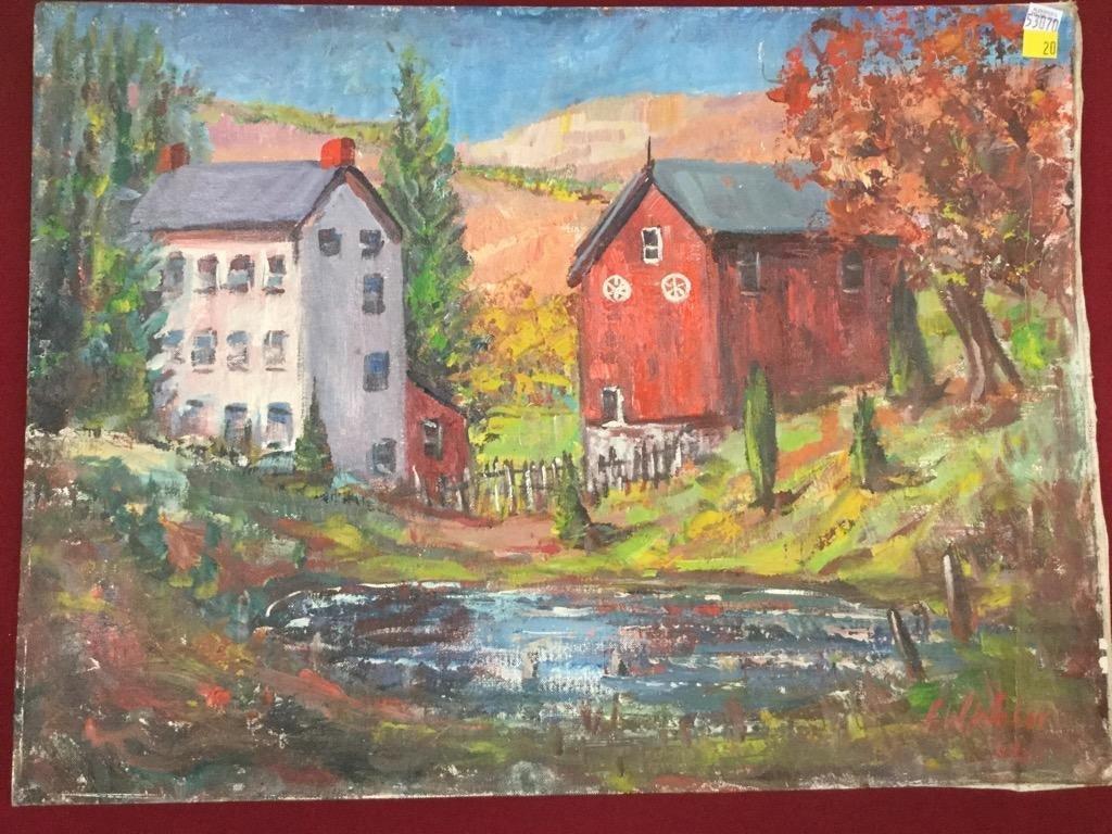 Frank William Weber. Red Barn.