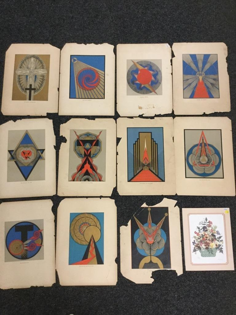 Lot of 12 Graphic Prints on Paper.