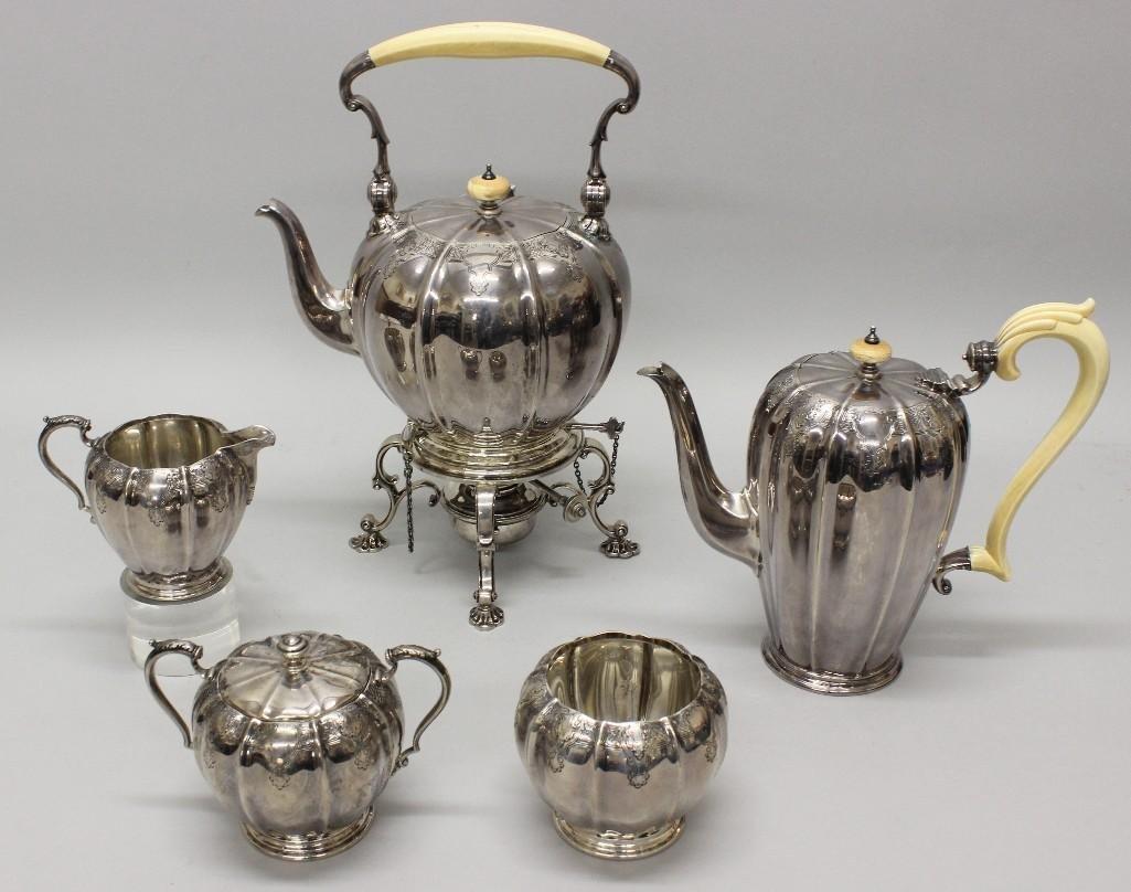Adie Brothers Sterling Silver Tea Set