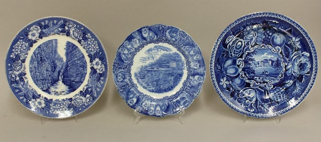 Grouping of Staffordshire Transferware Plates.