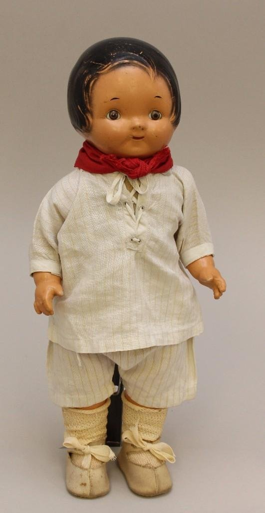 "14"" 1920's E.I.H. CO.INC. COMPOSITION ""CAMPBELL KID""."
