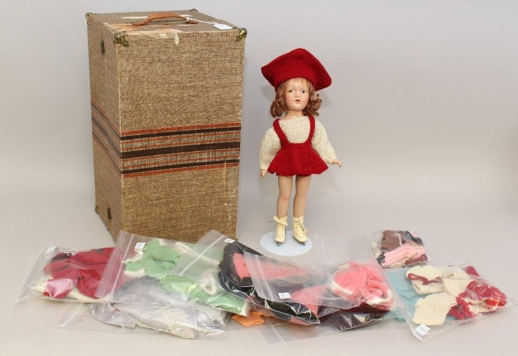 "14"" COMPOSITION UNMARKED MARY HOYER DOLL, KNIT"