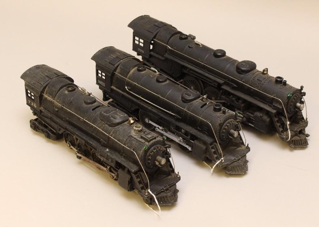 Lot of (3) Lionel Locomotive Steam  Engines