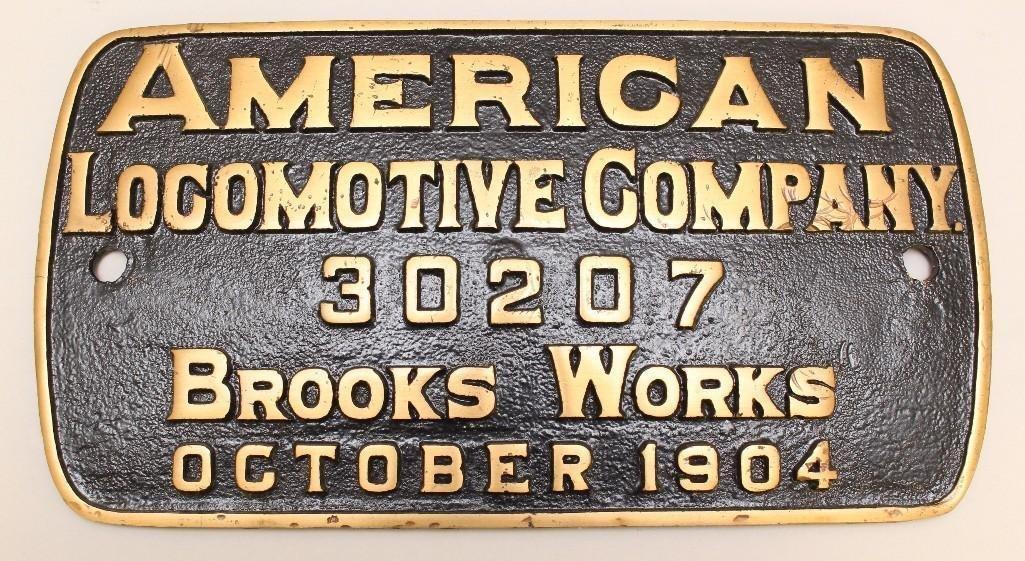 American Locomotive Railroad Plate