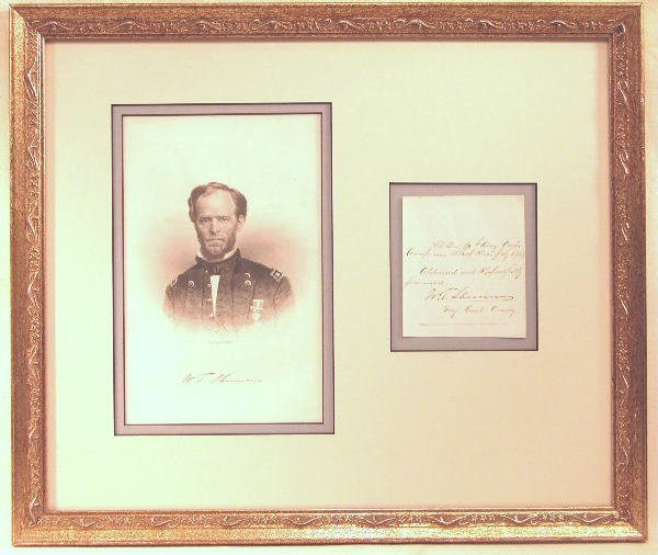 15: Autograph of William Tecumseh Sherman.