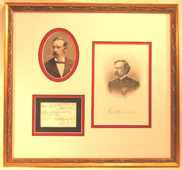 16: Autograph of George Armstrong Custer.
