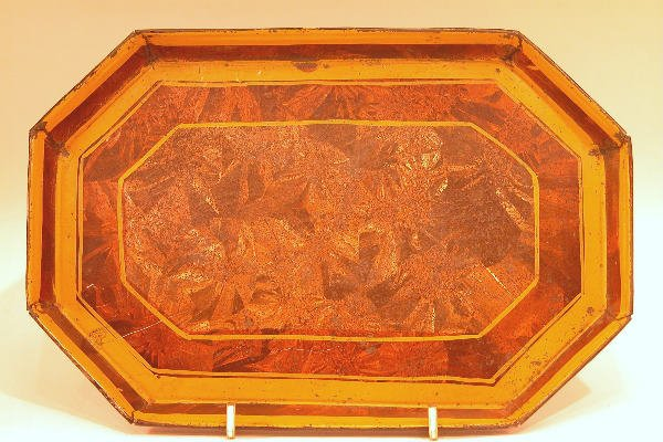 427: Yellow Toleware Tray.