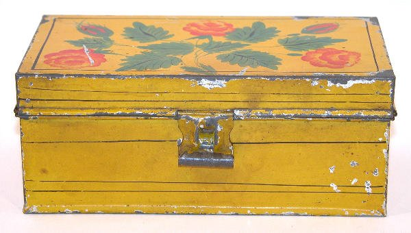 431: Yellow Toleware Document Box.