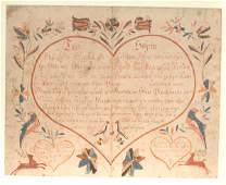 592 Pennsylvania Fraktur  Dohner