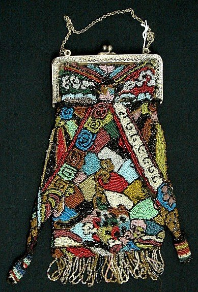 4003: Glass Beaded Purse - Pre-1920