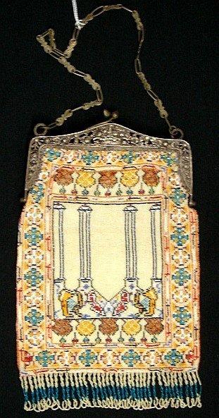 4004: Fine Glass Beaded Purse - Pre-1920