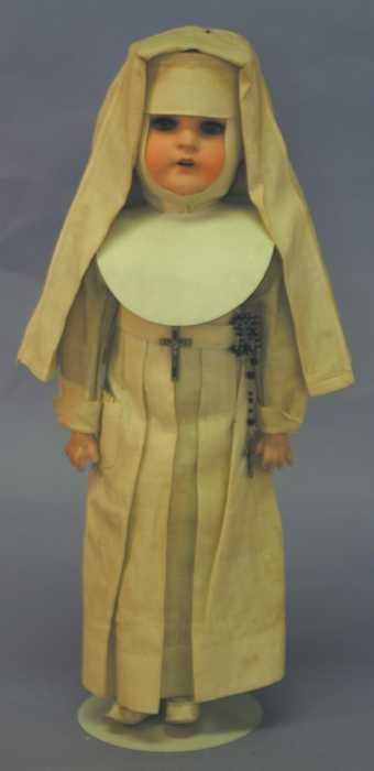 "7511: 16"" Heubach Kopplesdorf German Bisque Nun Doll"