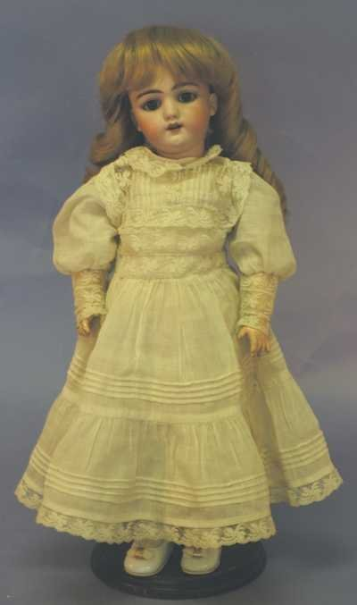 "7512: Antique Doll -17"" 109-7 1/2 H 1 (Poss. Handwerck)"